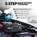 Topdon T1200 Car Battery Charger 6V 12V Automatic Lead Acid Lithium Batteries Charger IP65 Car Motorcycle Battery Charger