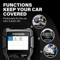 TOPDON ArtiLink600 OBD2 Scanner Auto Code Reader with ABS SRS Diagnostics Tool Active Test Oil SAS BMS Reset Full OBD2 Functions